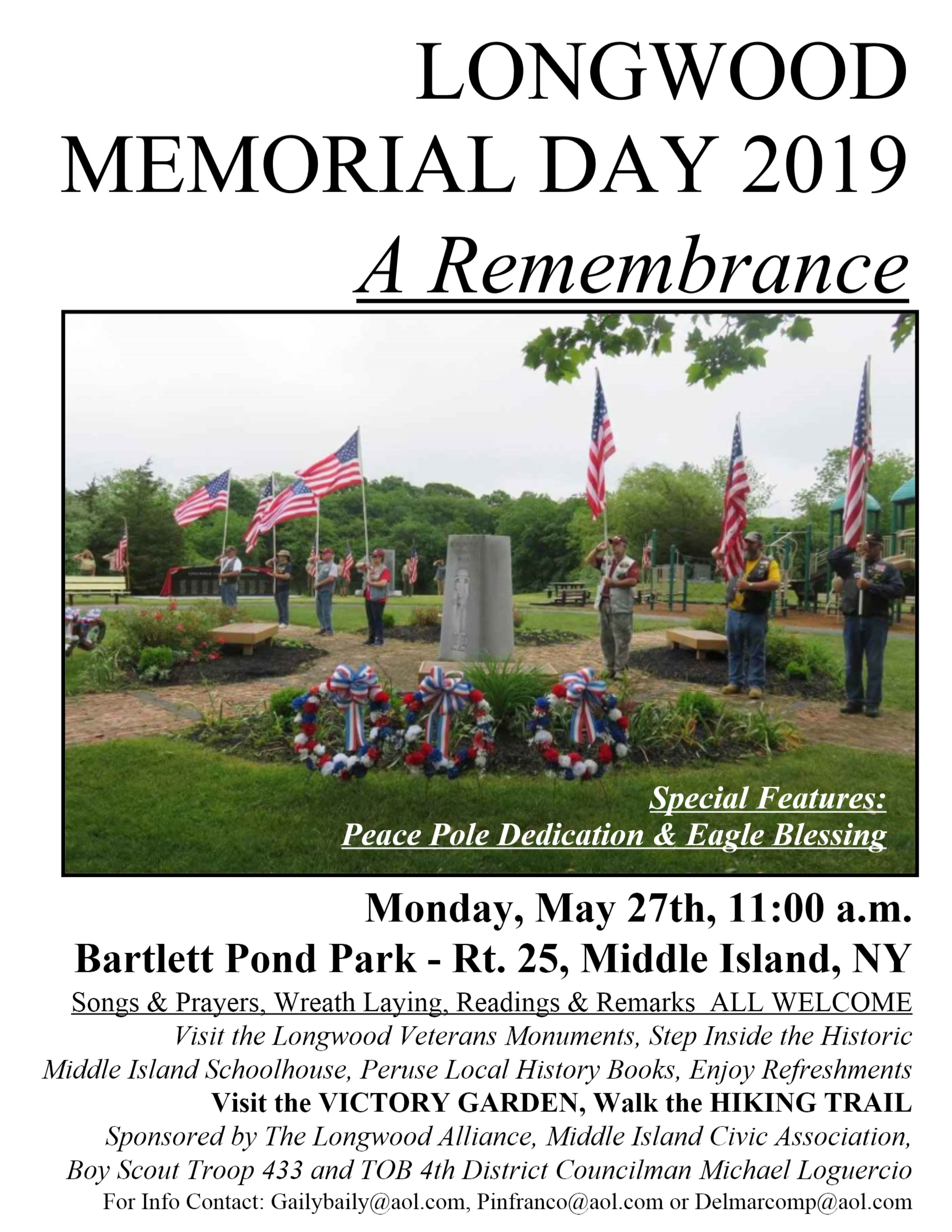 Memorial Day 2019 sign