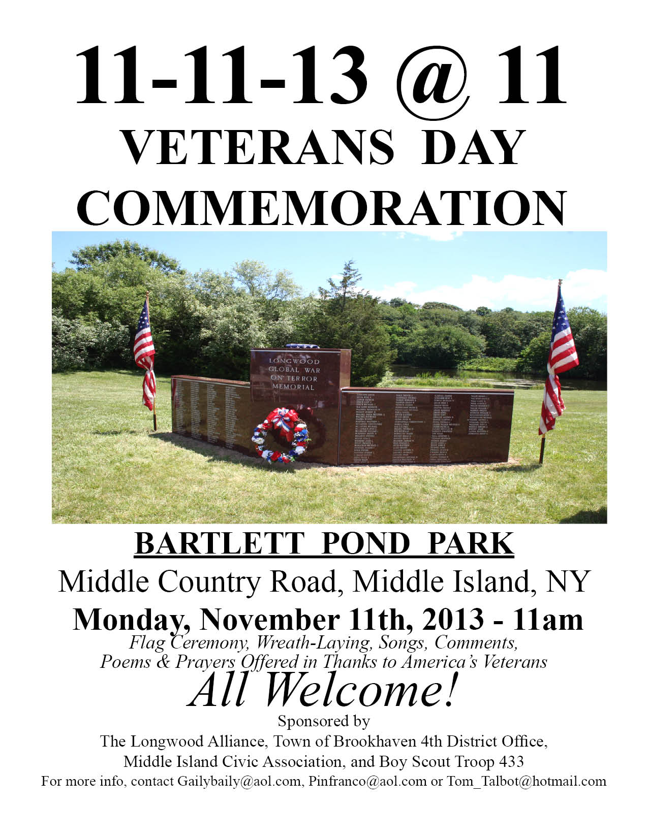Vets Day 2013 Invite Sign