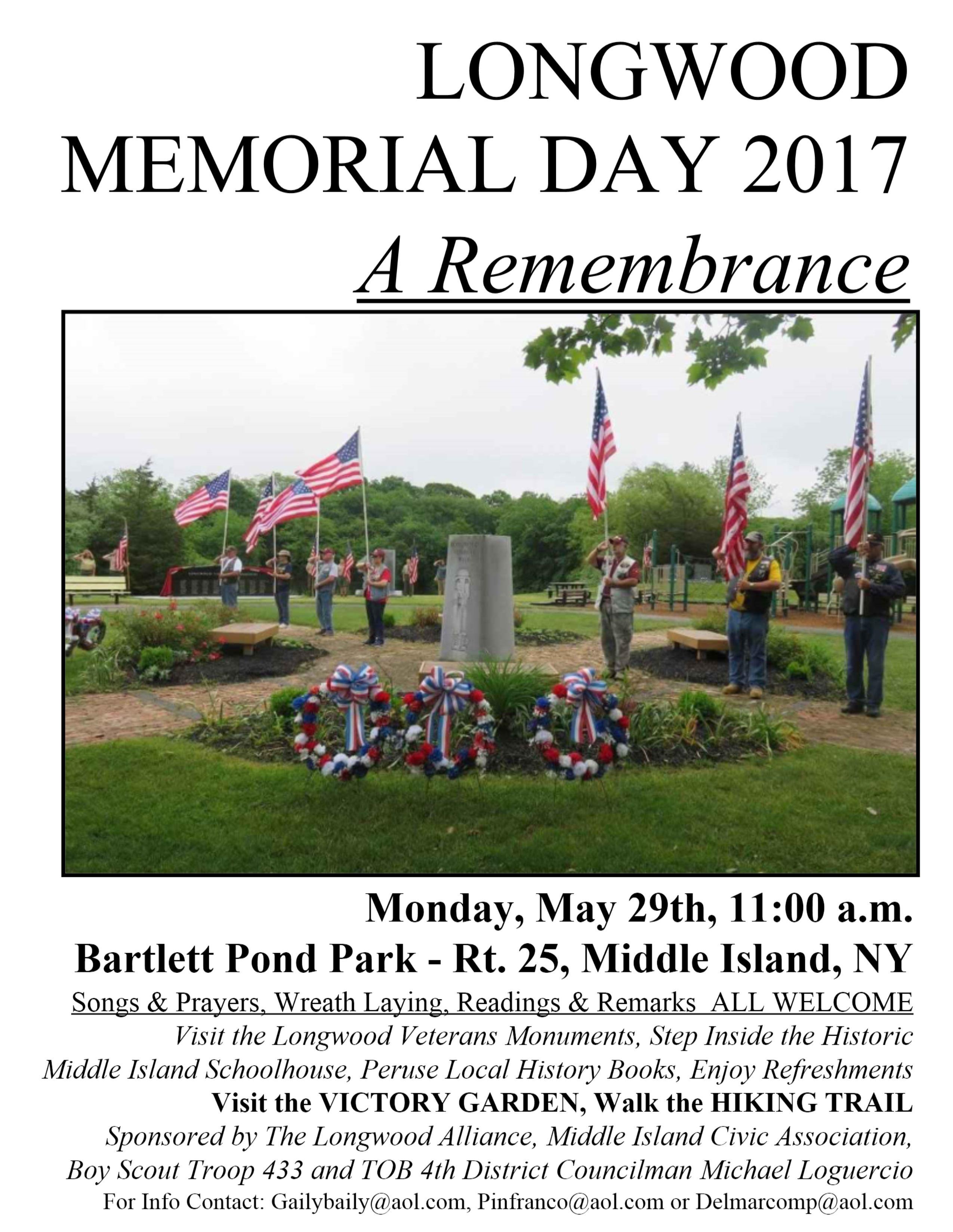 Memorial Day 2017 sign