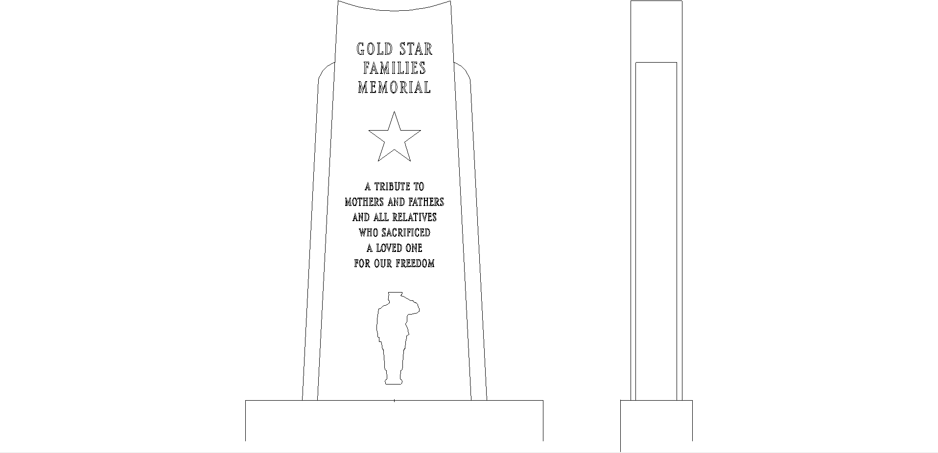 GOLD STAR FAMILIES Monument design